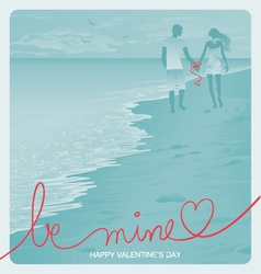 Beach Couple vector image