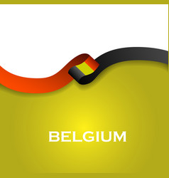 Belgium sport style flag ribbon classic style vector
