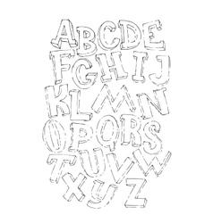 Bold black 3d alphabet set vector image vector image