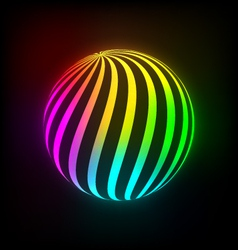 Bright light ball vector image
