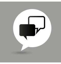 Bubble speak map pointer icon vector