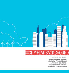 City of the future with alternative energy sources vector