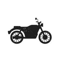 classic bike grunge silhouette vector image