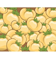 Fresh yellow tomatoes pattern vector