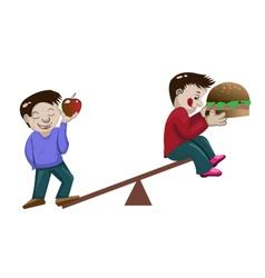healthy boys vector image