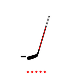 hockey sticks and puck it is icon vector image vector image
