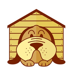 kennel dog vector image vector image
