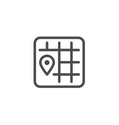 Location line icon vector