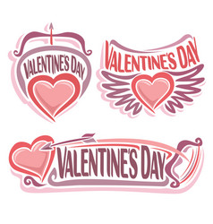 Logo for happy valentines day vector
