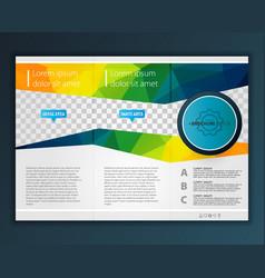 modern tri-fold brochure design template vector image vector image