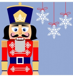 nutcracker background vector image
