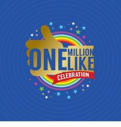 One Million Likes Celebration vector image vector image