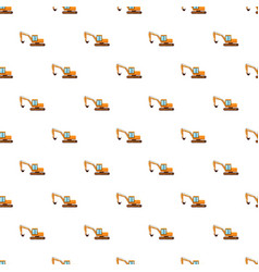 Orange digger pattern vector