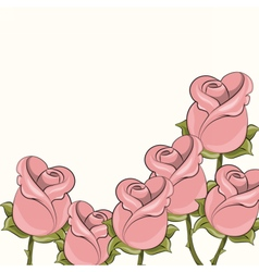 Roses background for cards vector image vector image