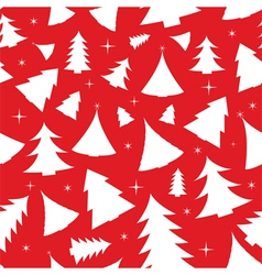 seamless background with christmas trees vector image