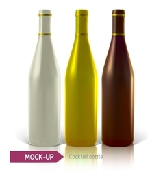 set of cocktail bottles vector image