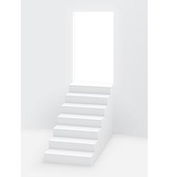 stairs door vector image vector image