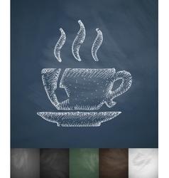 Tea icon hand drawn vector