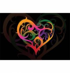 valentines heartshape vector image vector image