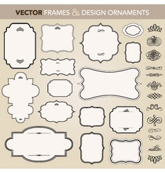 vector design ornaments set vector image vector image