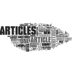 Why should i submit articles to an article vector