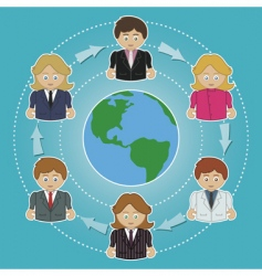 world of business vector image vector image