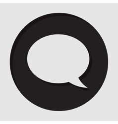 Information icon - speech bubble vector