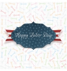 Happy labor day label with text vector