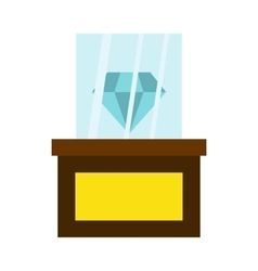 Diamond on a pedestal icon flat style vector
