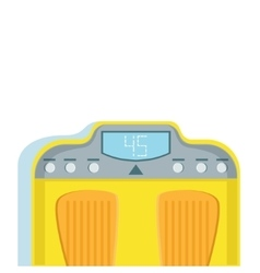 Yellow bathroom scales for weight loss monitoring vector