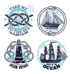 Marine Emblems Collection vector image