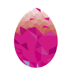 Isolated easter egg vector
