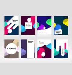 Abstract business brochure design vector