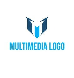 Multimedia logo vector image
