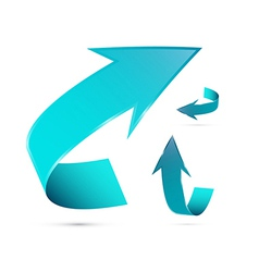 Abstract Blue 3d Arrow Icon Set vector image
