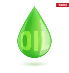 Green oil industry drop symbol vector