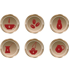 button coffee vector image