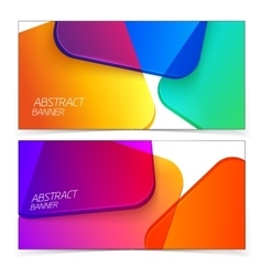 Abstract geometric headers vector