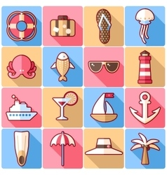 Cruise icons vector