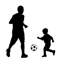 soccer player silhouette vector image