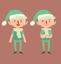 Expressive elf in different poses vector