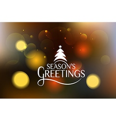 Hand sketched seasons greetings logotype badge and vector