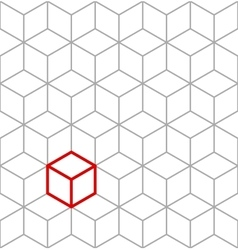 Seamless isometric cubes background vector