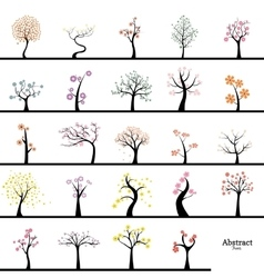 Cute abstract trees vector