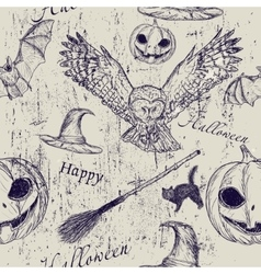 Halloween seamless texture vector