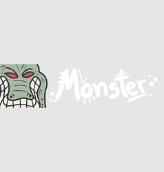 banner monster vector image vector image