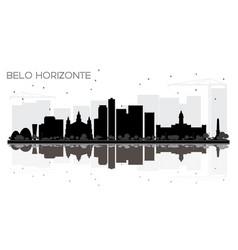 belo horizonte brazil city skyline black and vector image vector image