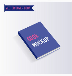 Book cover mock up template vector