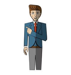Cartoon man avatar comic vector