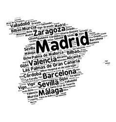Cities of Spain word cloud vector image